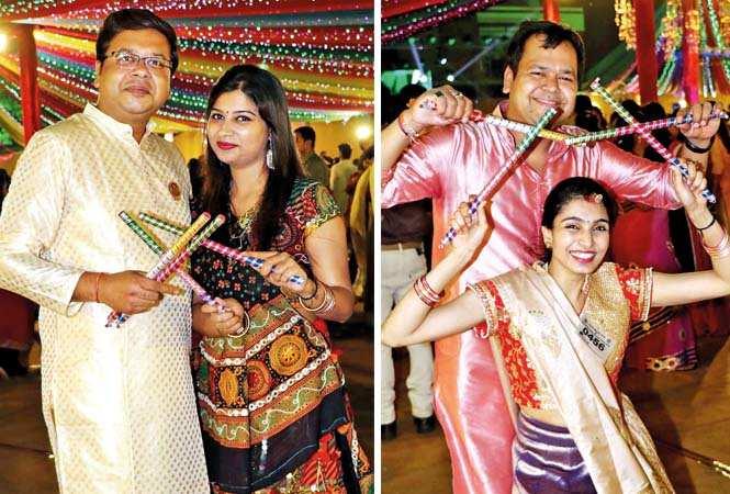 (L) Tushar Jain and Manjari Jain (R) Amit and Surbhi Modi (BCCL/ Unmesh Pandey)