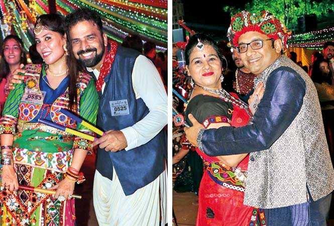 (L) Anjali and Bharat (R) Anju and Gaurav Gupta (BCCL/ Unmesh Pandey)