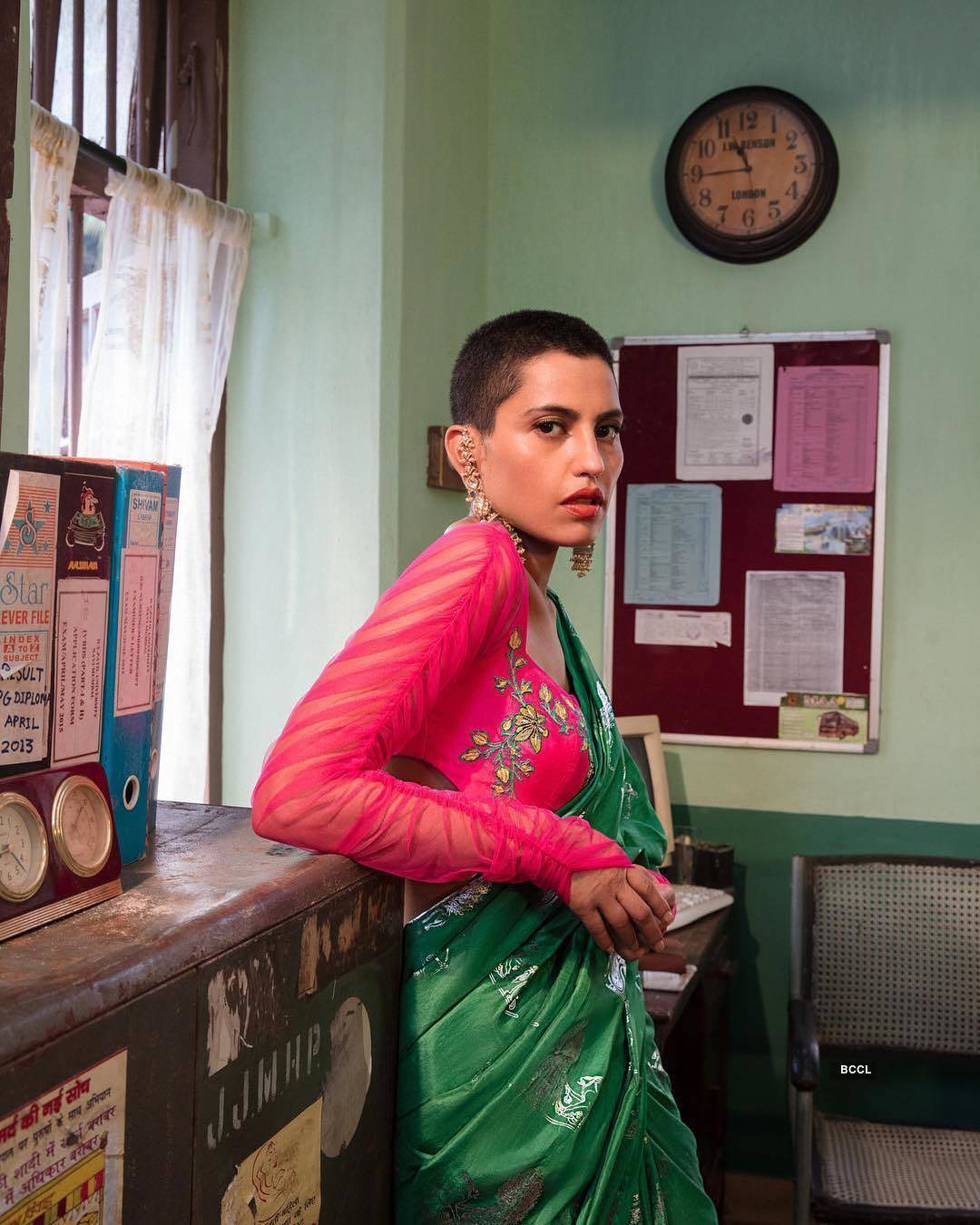 Priya Singh's transition from cascading hair to a buzz cut