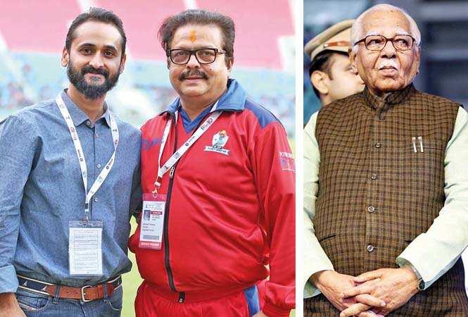 (L) Mayank Joshi and Abhijit Sarkar (R) Ram Naik (BCCL/ Aditya Yadav)