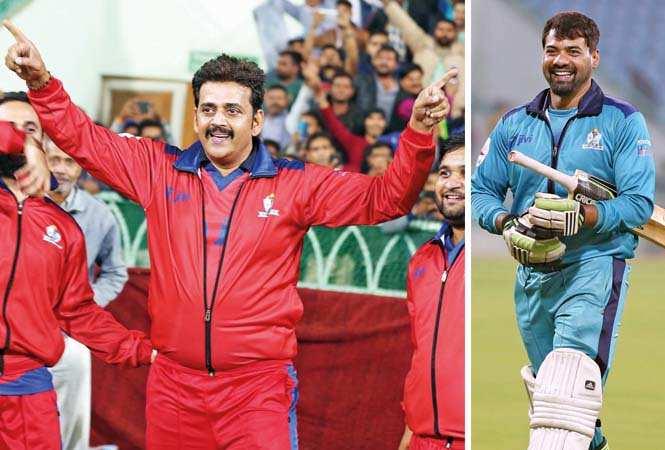 (L) Ravi Kishan (R) Shabbir Ahluwalia (BCCL/ Aditya Yadav)