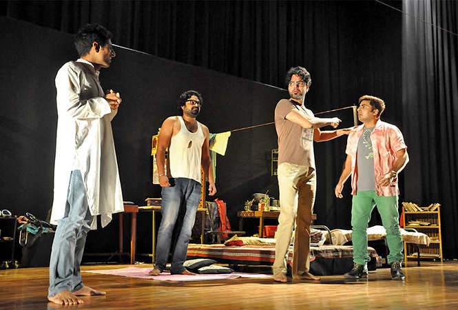 Scene from the play Yeh Hai Bombay Meri Jaan (BCCL/ AS Rathor)