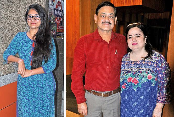 (L) Isha (R) Mukul and Anita (BCCL/ AS Rathor)