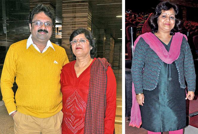 (L) Shrawan and Arti (R) Neeta Prakash (BCCL/ AS Rathor)