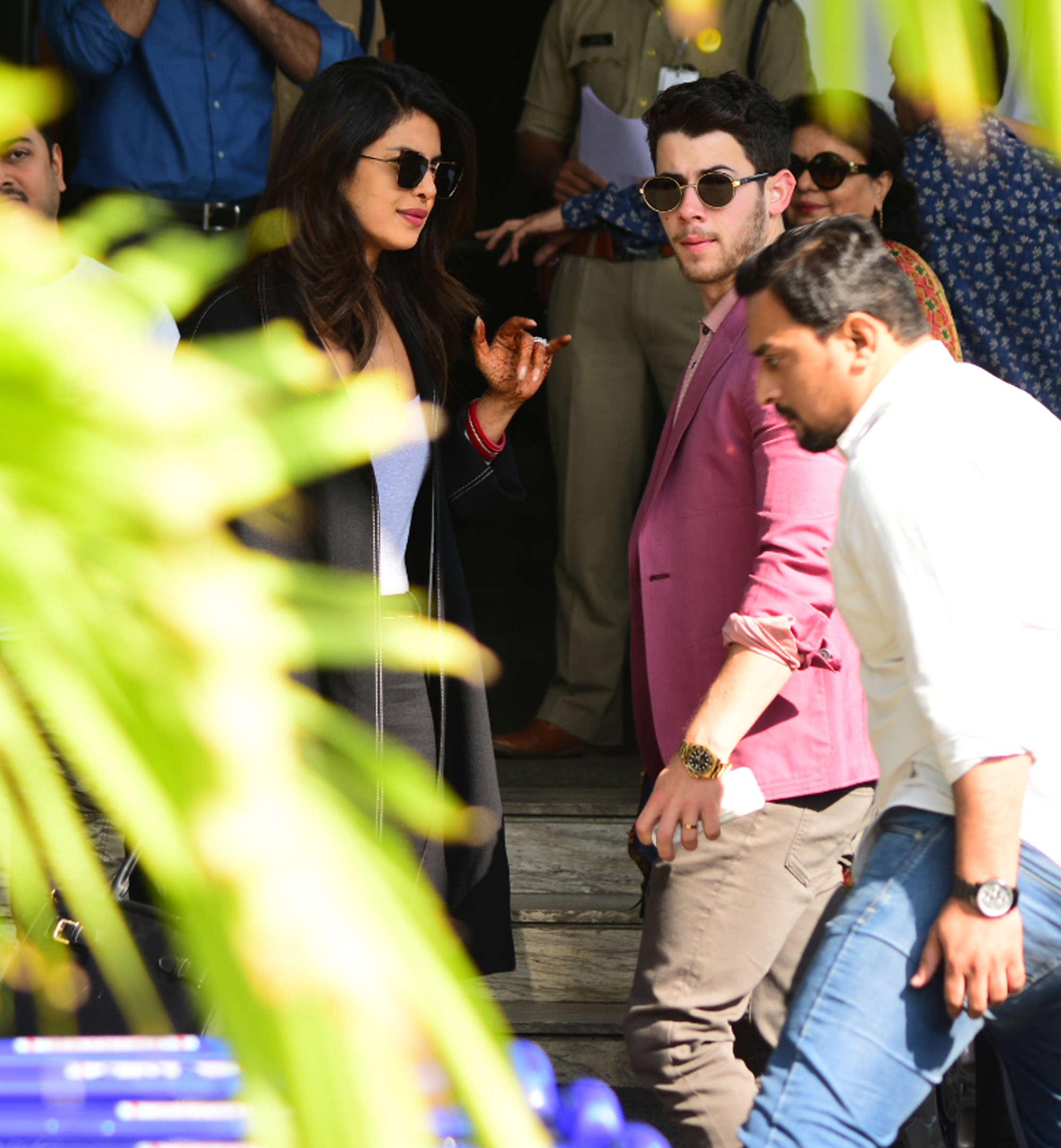 Nick Jonas and Priyank Chopra at Isha Ambani and Anand Piramal wedding