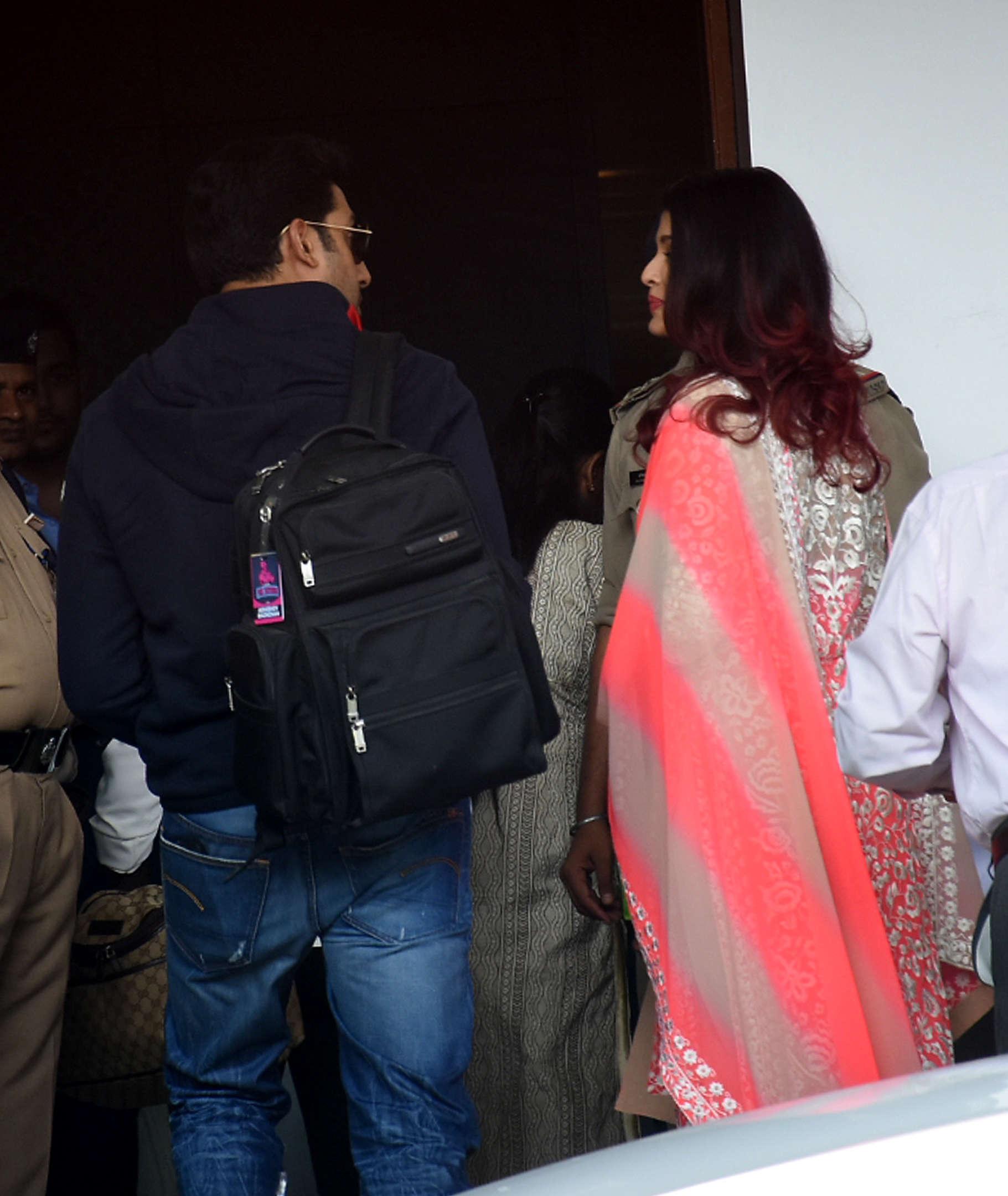 Abhishek and Aishwarya at Isha Ambani and Anand Piramal wedding