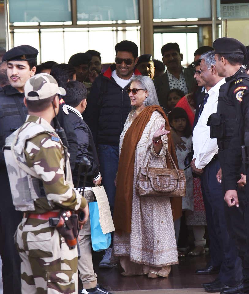 Jaya Bachchan at Isha Ambani and Anand Piramal wedding