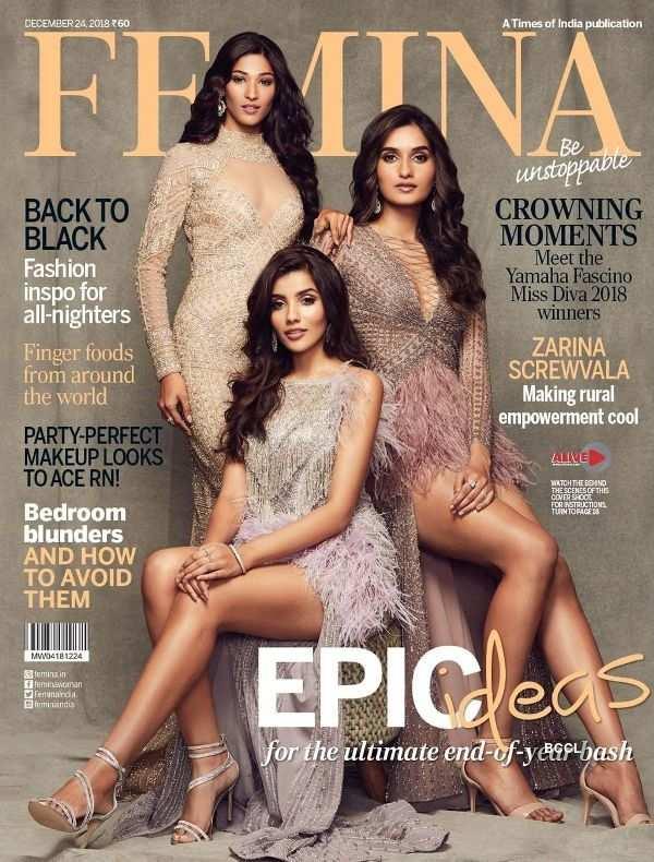 Miss Diva 2018 winners grace the Femina Magazine Cover