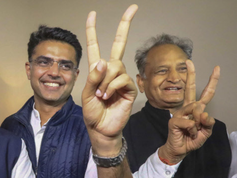 Live: Close fight in MP, Chhattisgarh; Cong leads in Raj, TRS in Telangana