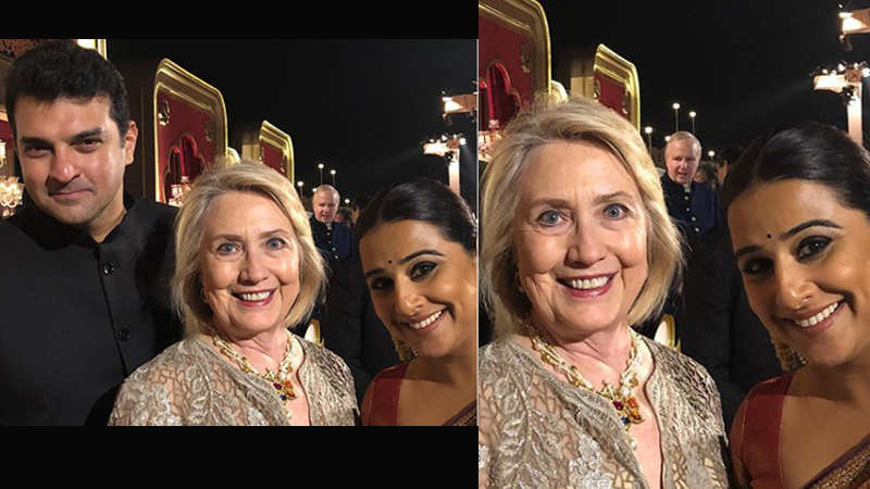 Vidya Balan's 'precious pic' with Hillary Clinton