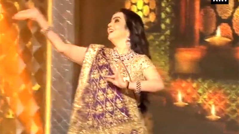 Watch: Nita Ambani's dance performance at daughter Isha Ambani's pre-wedding bash