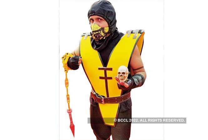 Comic-Con-2018---Abhimanyu-(3)-Archit-as-Scorpion-from-Mortal-Kombat