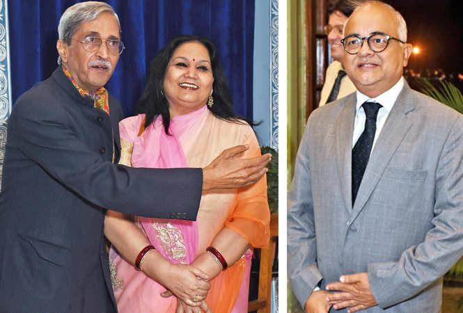 (L) HV Singh and Usha Singh (R) Carlyle Mcfarland (BCCL/  Vishnu Jaiswal)