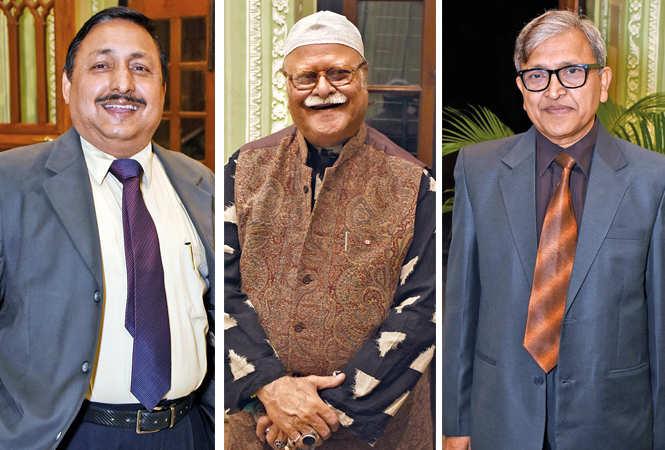 (L) Pradeep Rai Singh (C) Nawab Jafar Mir Abdullah (R) Keshav Chandra (BCCL/  Vishnu Jaiswal)