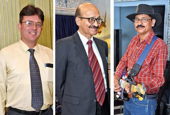 (L) Warren Hopkins (C) Akshay Parmar (R) Anthony Gidton (BCCL/  Vishnu Jaiswal)