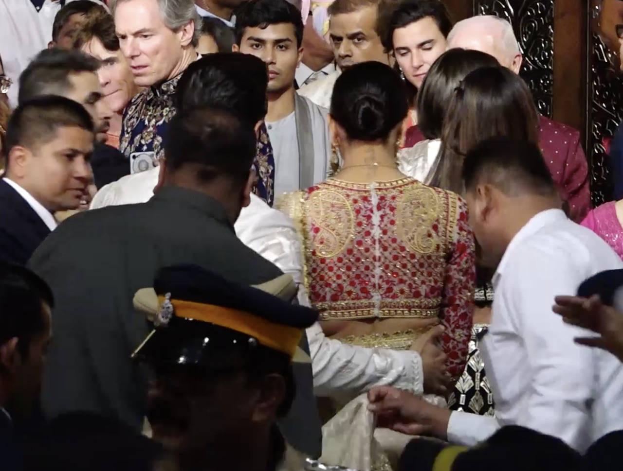 Deepika Padukone RK tattoo photos at Isha Ambani and Anand Piramal wedding