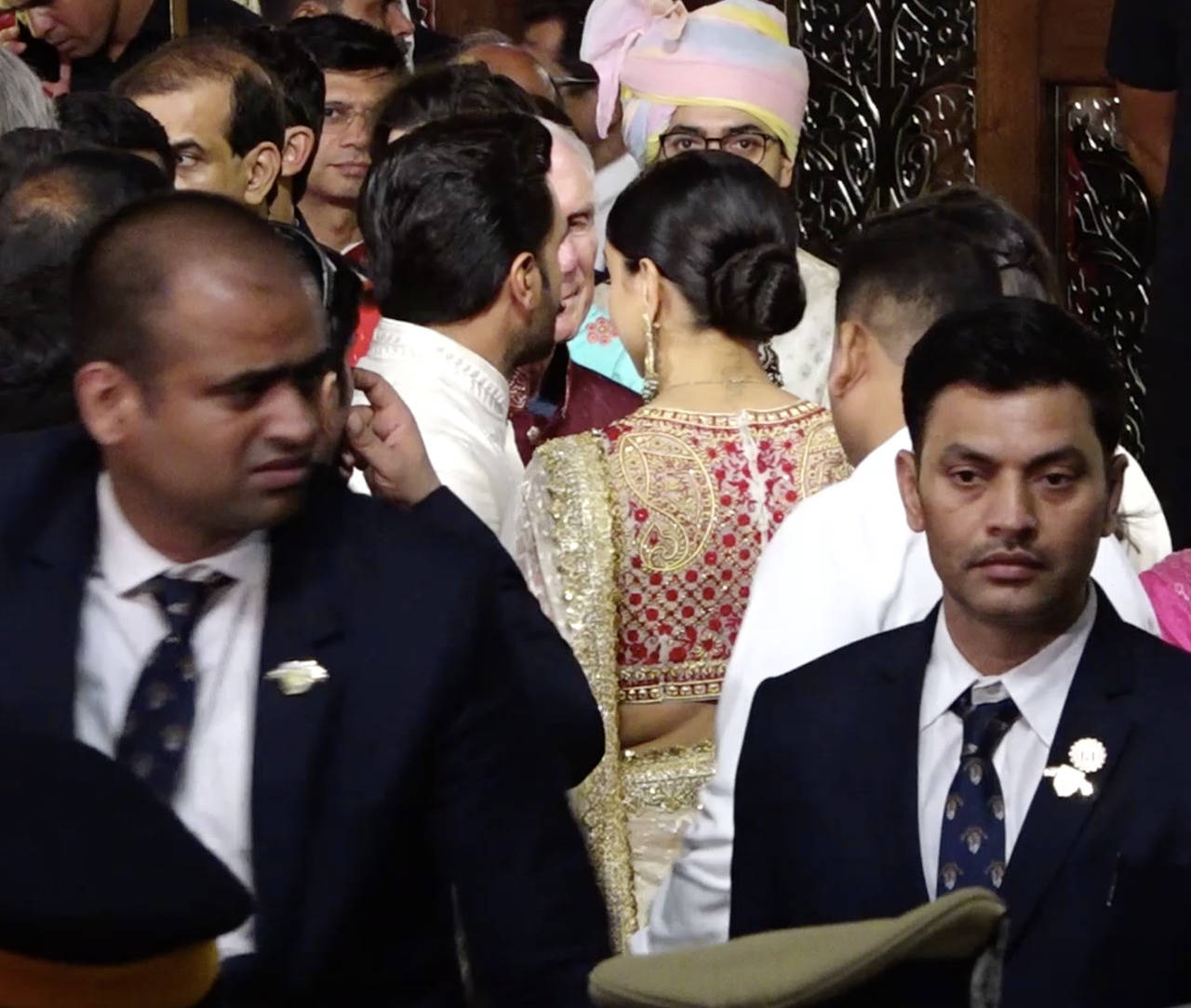 Deepika Padukone RK tattoo photos pictures images pics video at Isha Ambani and Anand Piramal wedding marriage
