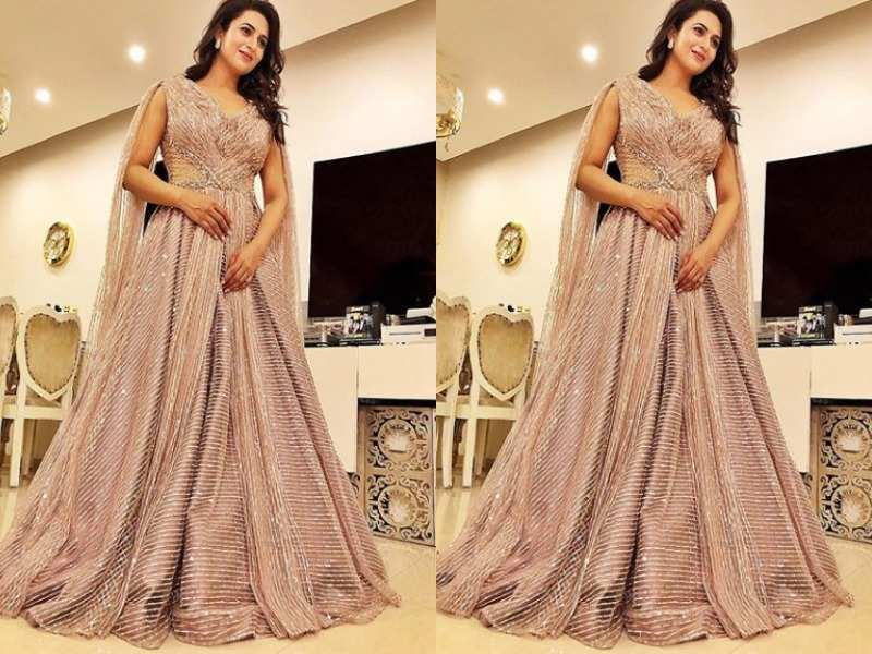Drop dead gorgeous in a shimmery gown
