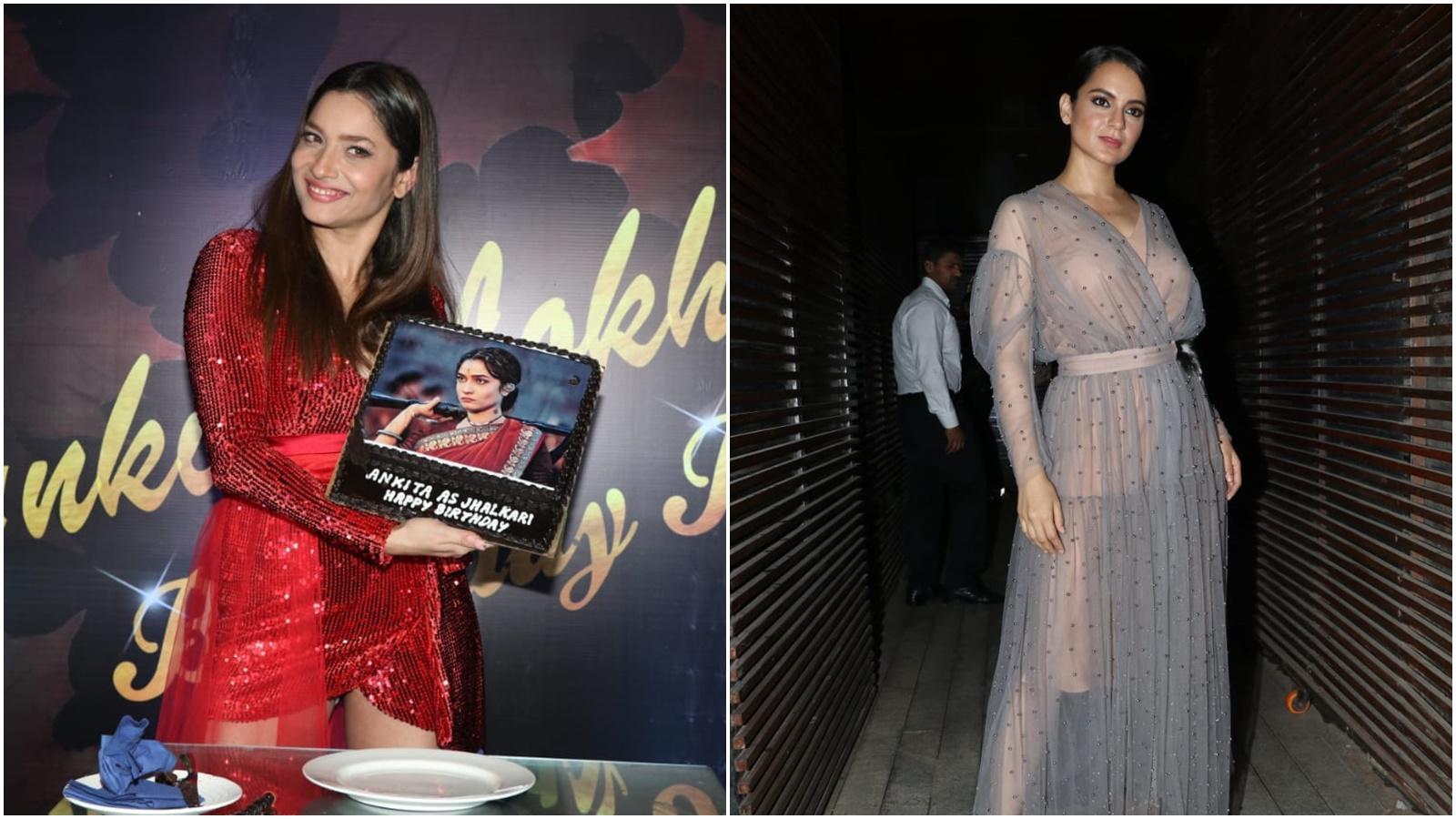 Kangana Ranaut attends 'Manikarnika' co-star Ankita Lokhande's birthday bash