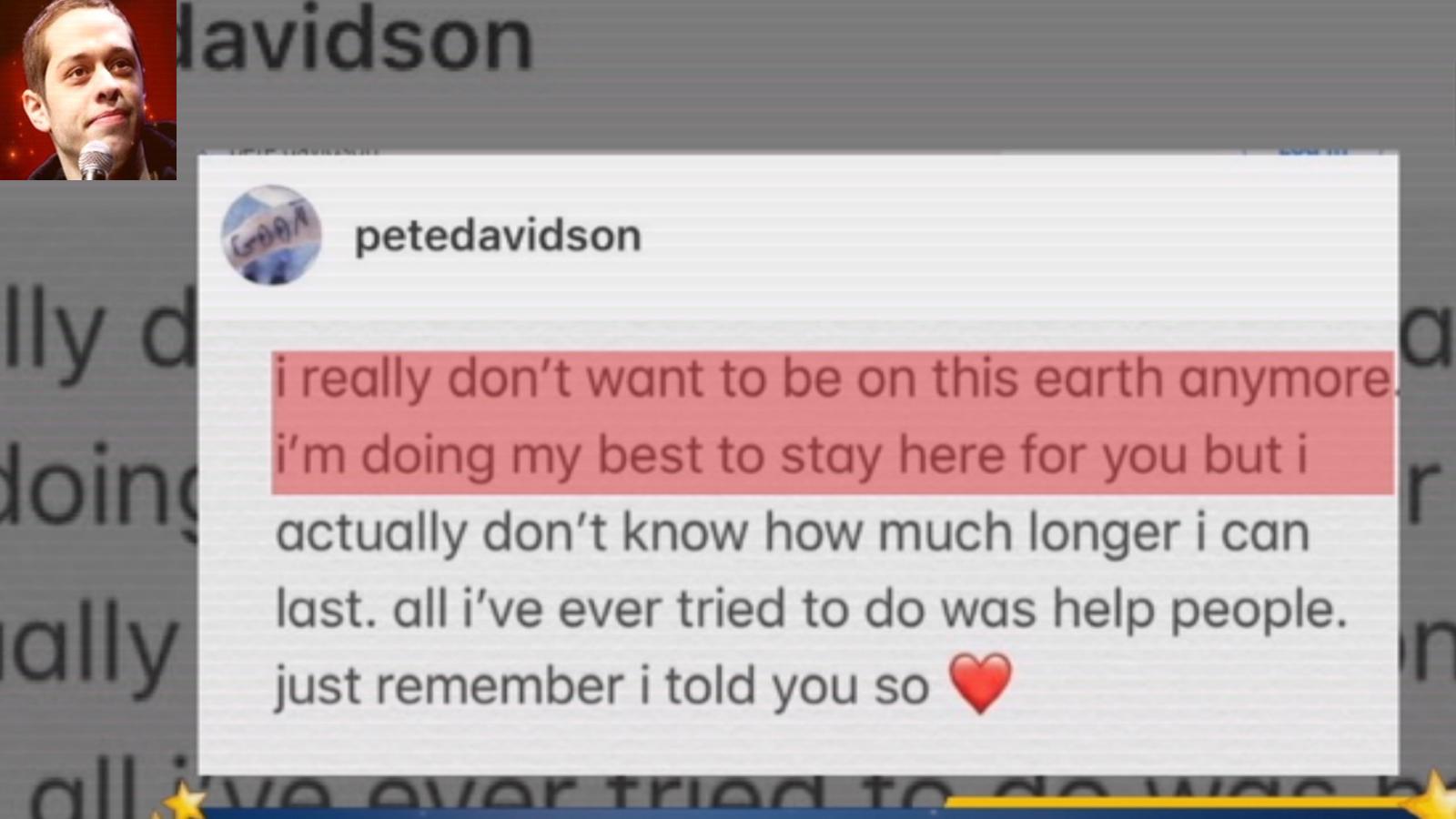 Pete Davidson avoids Ariana Grande at SNL