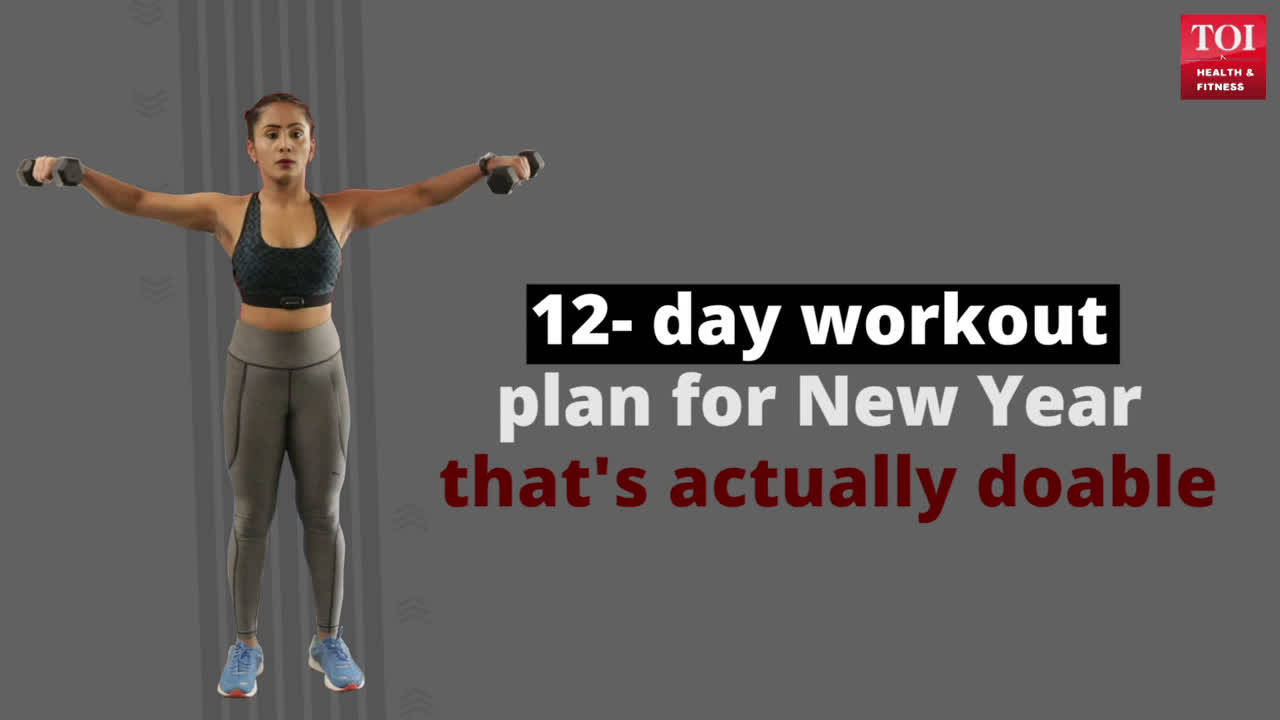 12- day workout plan for New Year that's actually doable