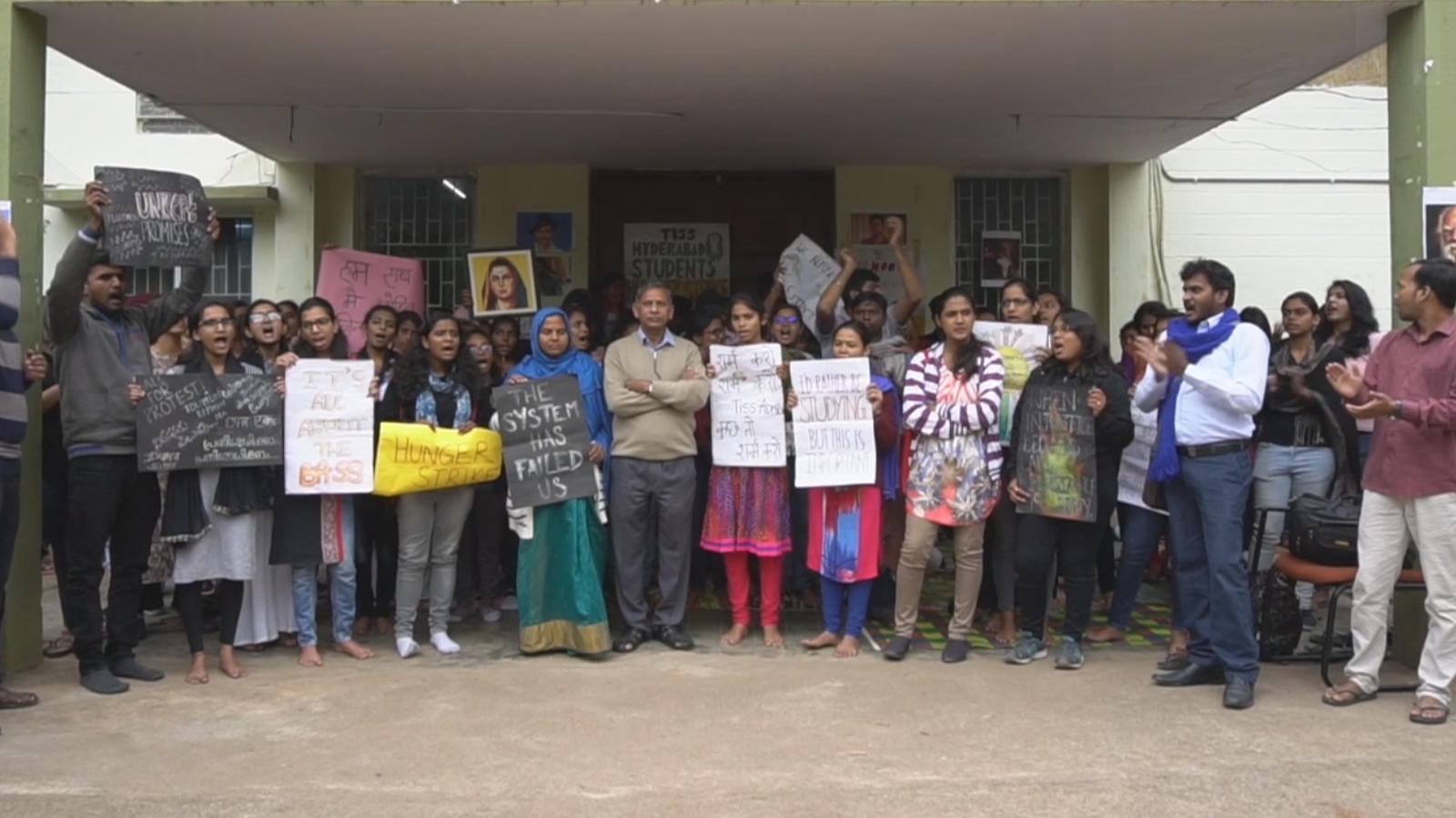 TISS Hyderabad students go on an indefinite hunger strike