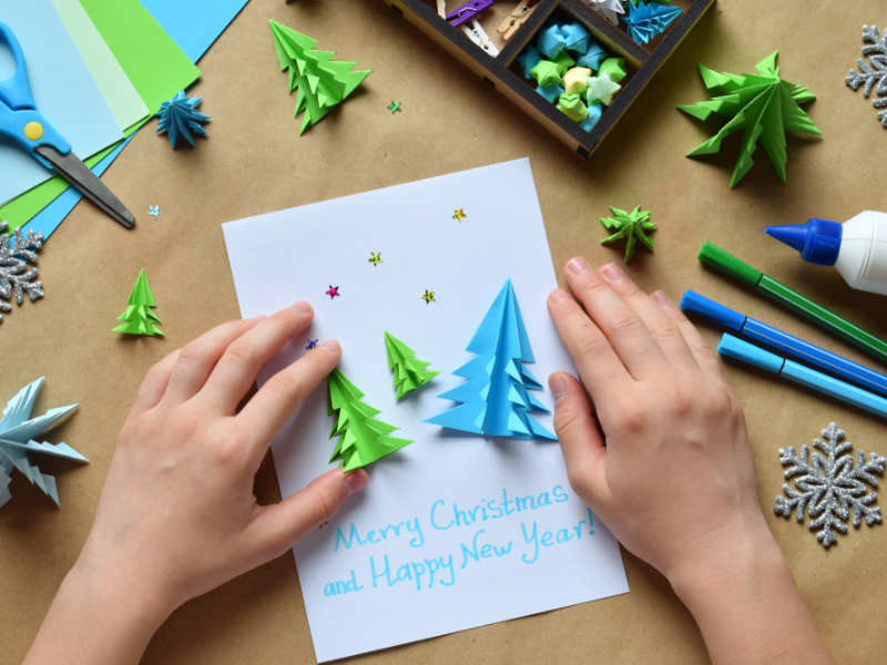 Diy Christmas Cards Make Your Own Christmas Cards Times Of India