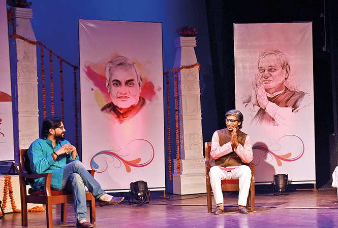 Aditya  Vishwakarma  as Vaagish  in the play Atal-Vakya (BCCL/ Vishnu Jaiswal)