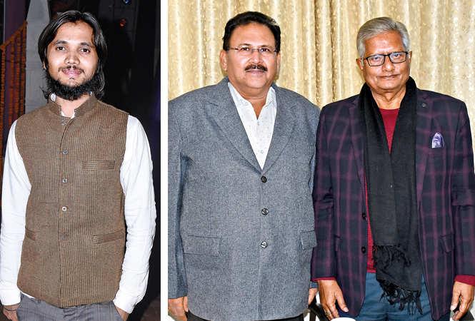 Privendra Singh (R) Ramesh Chand Gupta and Ravi Shankar (BCCL/ Vishnu Jaiswal)