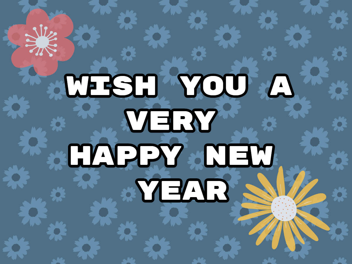 Happy New Year Greeting Card 12