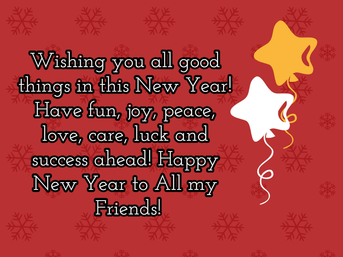 Happy New Year Greeting Card 96