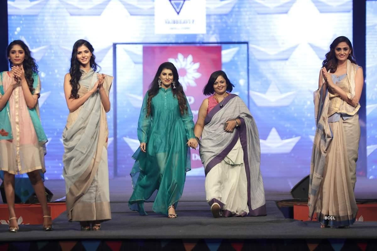 Designer Vaibbhavi P showcases her collection at AP Crafts Mela