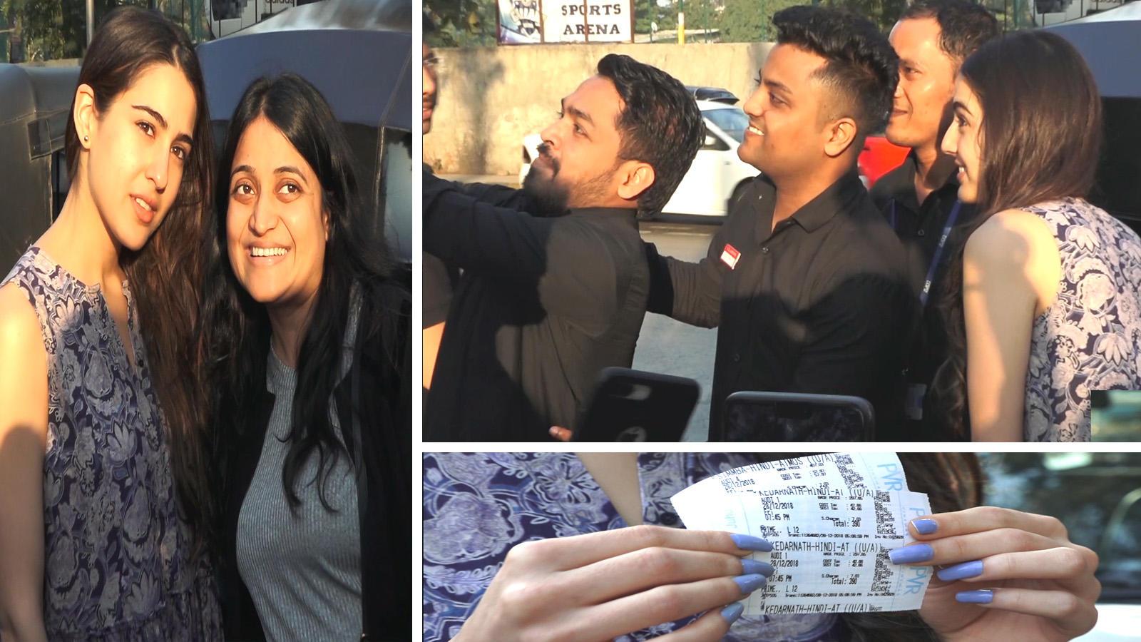 Sara Ali Khan meets fans post watching 'Simmba' and 'Kedarnath' in a movie theatre