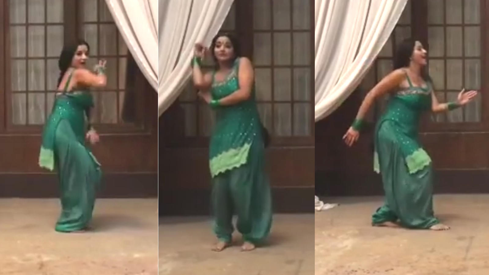 Bhojpuri sensation Monalisa's dancing video goes viral