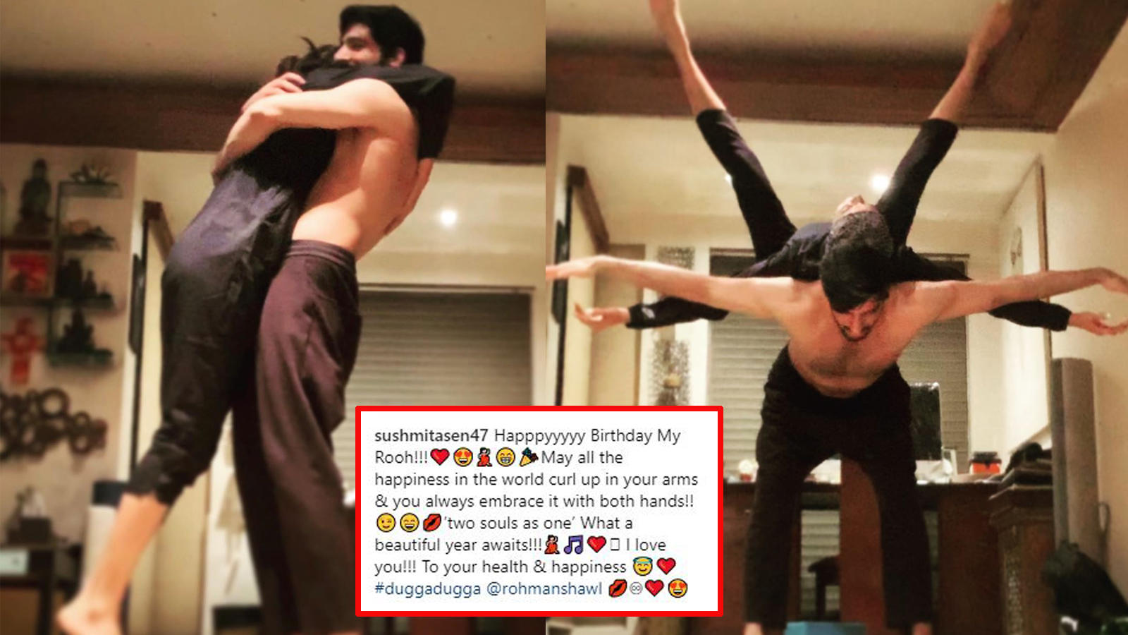 Sushmita Sen wishes beau Rohman Shawl in the most romantic way possible