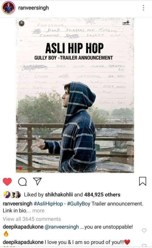 Gully Boy rap song Asli Hip Hop by Ranveer Singh