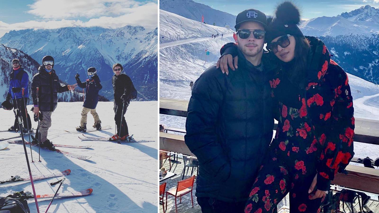 Nick Jonas flaunts skiing skills; wife Priyanka Chopra finds it 'hot'