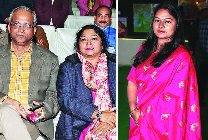 (L) Chandra Prakash and Dr Kunti Prakash (R) Garima Saxena (BCCL/ Aditya Yadav)