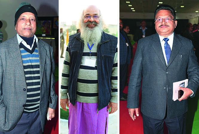 (L) Suresh (C) Surya Mohan Kulshreshtha (R) VP Tripathi (BCCL/ Aditya Yadav)