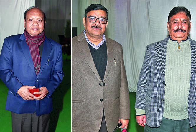 (L) AK Rai (R) AK Singh and DK Bajpayee (BCCL/ Aditya Yadav)