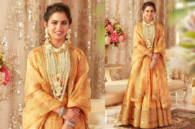 Isha Ambani haldi new photo