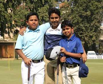 Junior golfers who participated in the tournament Prashant Agarwal, Aditya Khaitan andVarish Mohta (2)