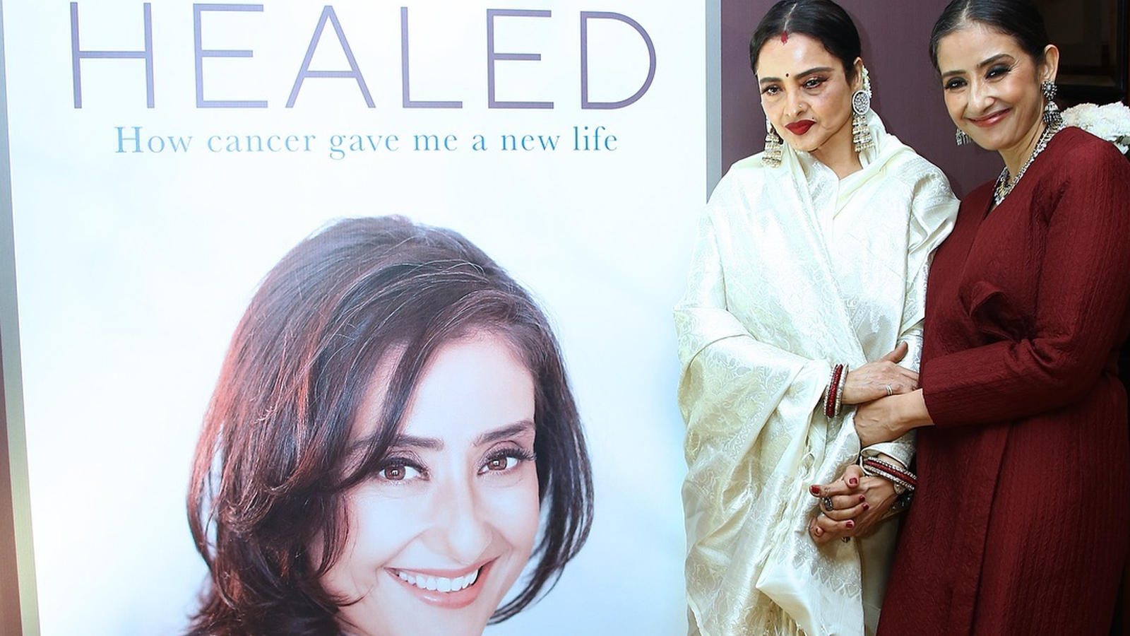 Manisha Koirala launches book on cancer titled 'Healed'