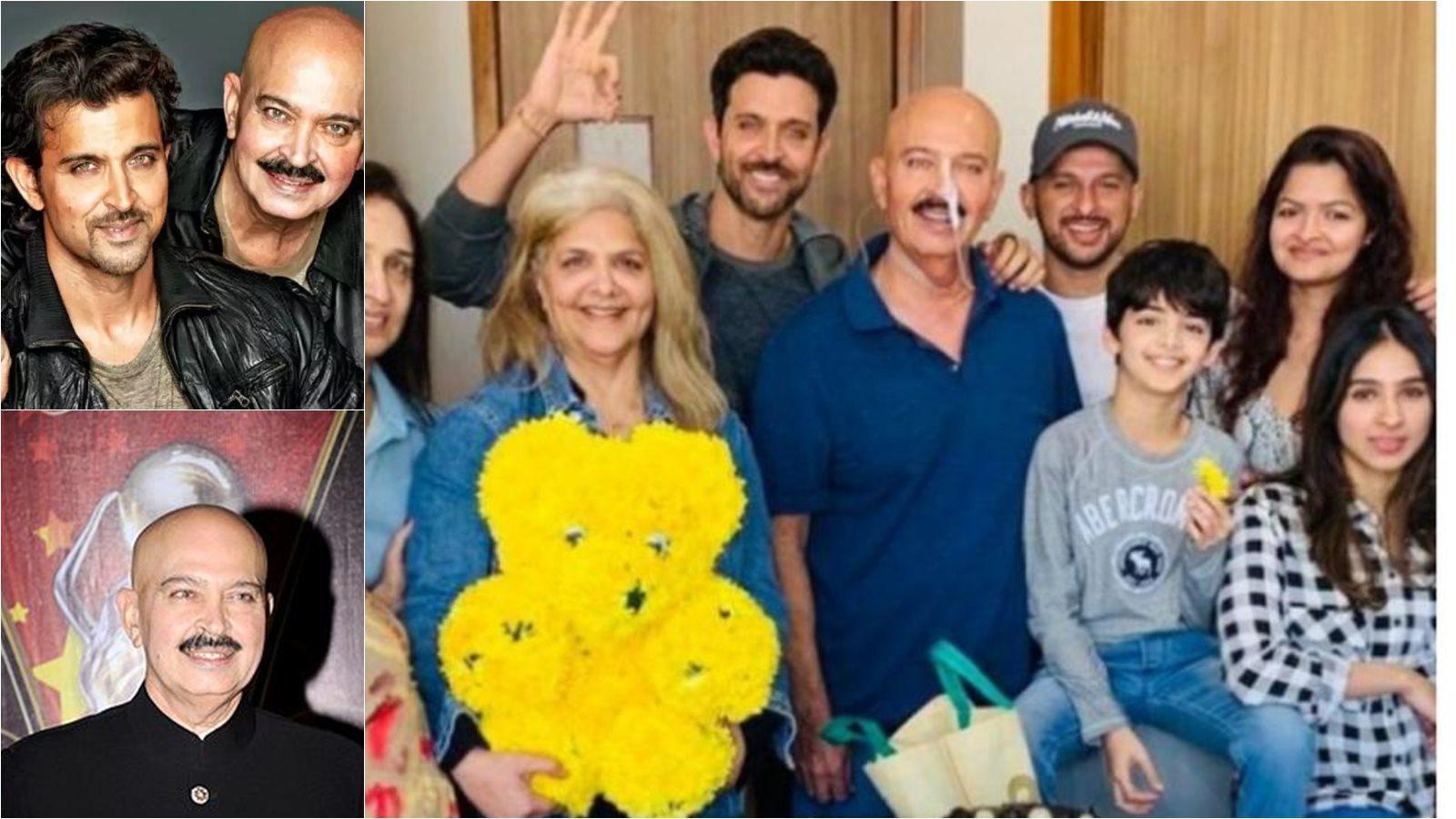 Hrithik Roshan and family all smiles post Rakesh Roshan's cancer surgery