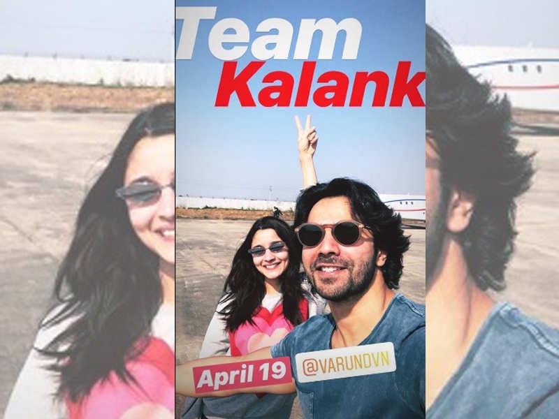 Kalank': Alia Bhatt and Varun Dhawan jet off to Gwalior for the