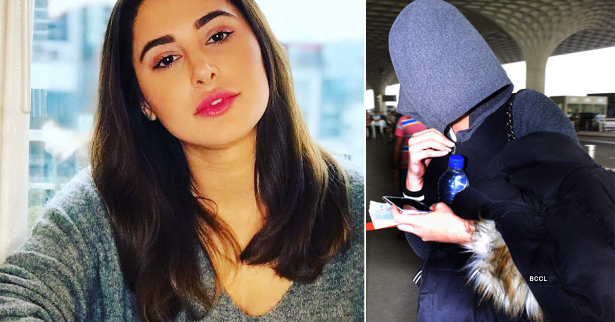 These pictures of Nargis Fakhri hiding her face go viral on the internet