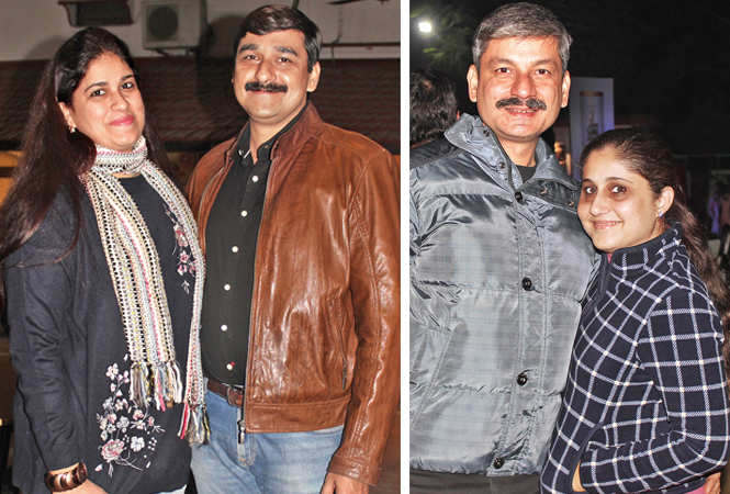 (L) Shailly and Atul Seth (R) Vivek and Liza Kapoor (2) (BCCL/ Arvind Kumar)