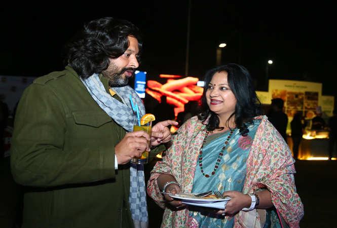 Singer Ravindra Upadhyay with his wife Madhuri Upadhyay
