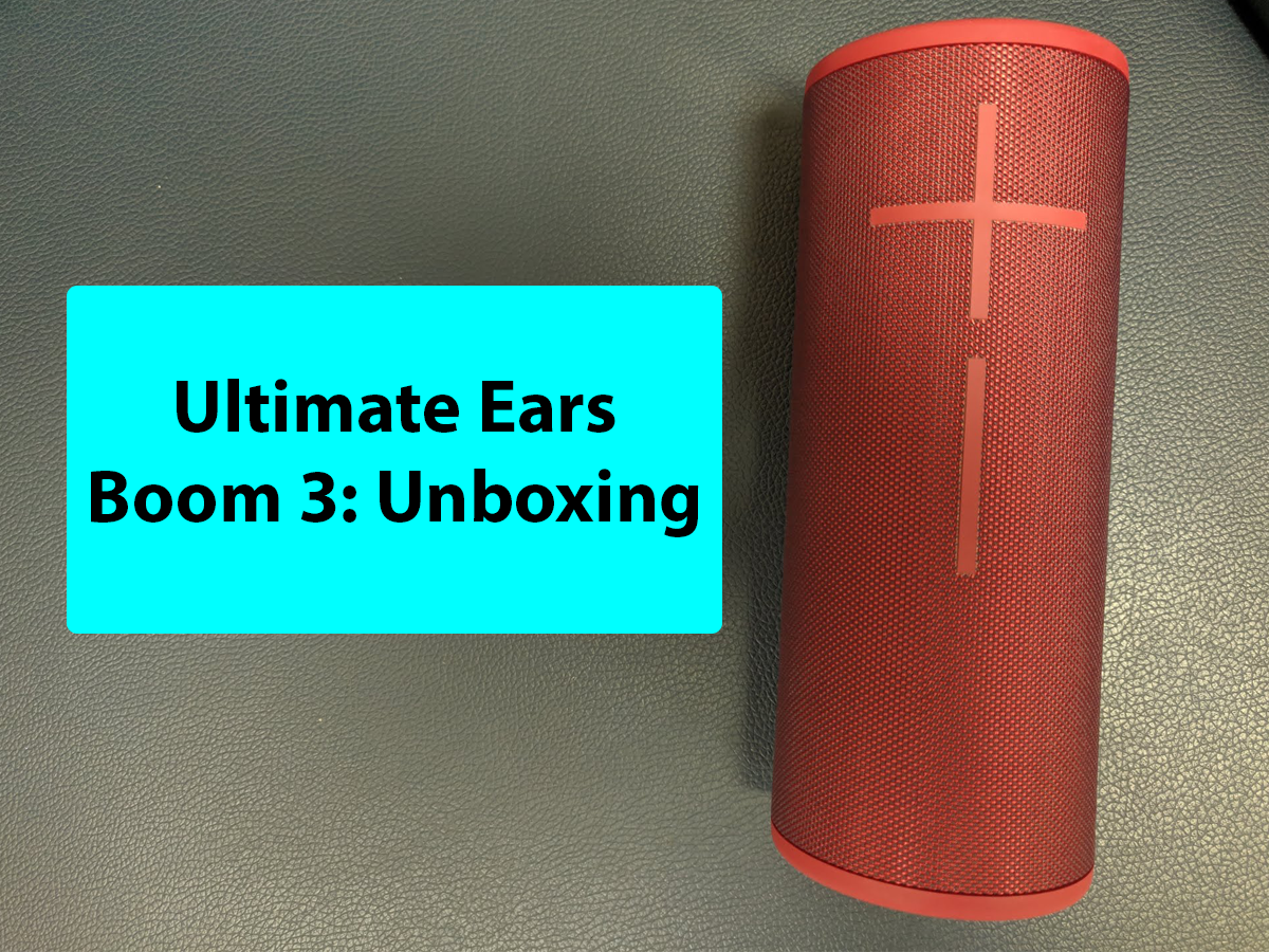 Ultimate Ears Boom 3 unboxing