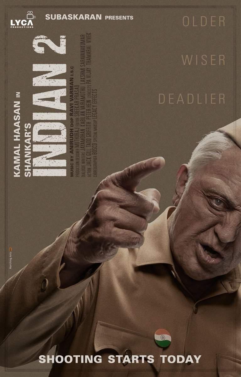 Kamal Haasan's 'Indian 2' shooting kicks off today | Tamil